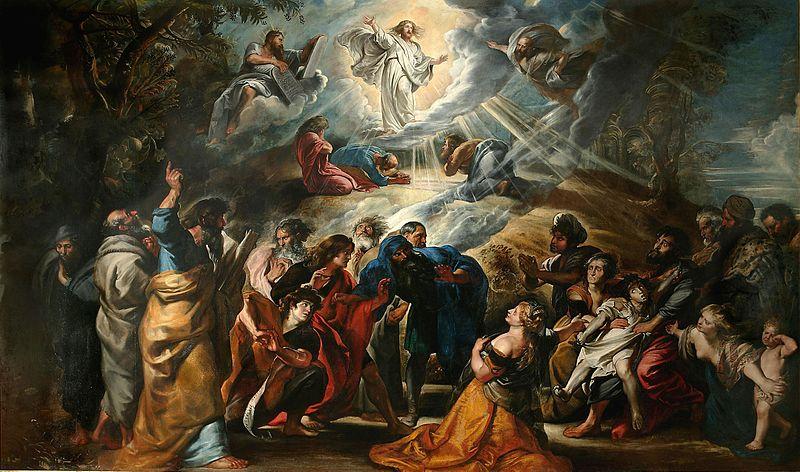 L'attribut alt de cette image est vide, son nom de fichier est Transfiguration-Rubens.jpg.